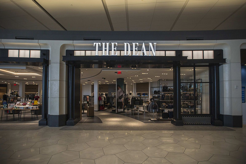 The DEAN is an unrivaled, fashion-forward mens emporium featuring bespoke products and services designed with the discerning business traveler in mind.